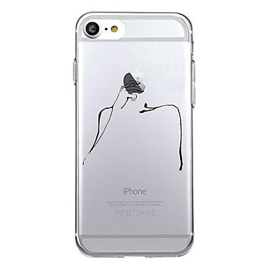 hoesje Voor Apple Patroon Achterkantje Spelen met Apple-logo Cartoon Zacht TPU voor iPhone 7 Plus iPhone 7 iPhone 6s Plus iPhone 6 Plus