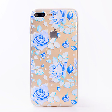 hoesje Voor Apple iPhone 7 Plus iPhone 7 Transparant Patroon Achterkant Bloem Zacht TPU voor iPhone 7 Plus iPhone 7 iPhone 6s Plus iPhone