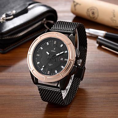 Heren Modieus horloge Polshorloge Unieke creatieve horloge Vrijetijdshorloge Kwarts Kalender Grote wijzerplaat Legering BandCool