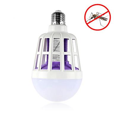 1 buc 15W 600lm E26 / E27 Bulb LED Glob 24pcs LED-uri de margele SMD 2835 Insect Mosquito Fly Killer Alb 220-240V