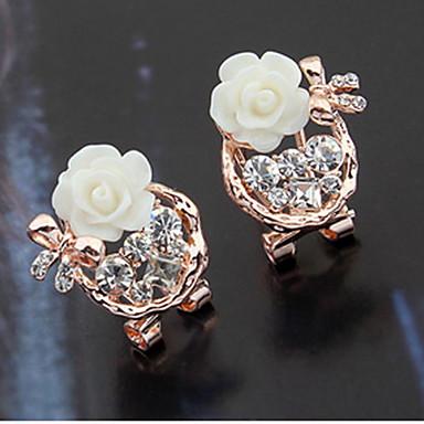 Damen Ohrstecker Tropfen-Ohrringe Kreolen Strass Basis Einzigartiges Design Logo Stil Perle Freundschaft Grabado individualisiert