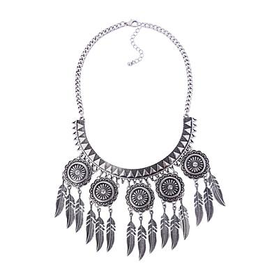 Damen Statement Ketten  -  Geometrisch Einzigartiges Design Anhänger Stil Geometrische Form Silber Modische Halsketten Für Party