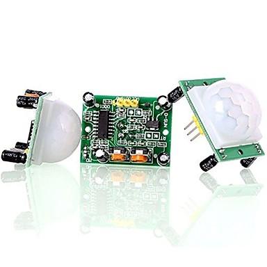 Hc-sr501 Pas de pyro-elektrische infrarood-pir bewegingsensor detector module aan (3 stuks)