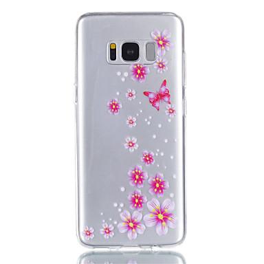غطاء من أجل Samsung Galaxy S8 Plus S8 شفاف نموذج غطاء خلفي فراشة زهور ناعم TPU إلى S8 S8 Plus S7 edge S7 S6 S5