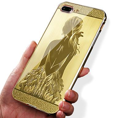 hoesje Voor iPhone 7 iPhone 7 Plus Apple Schokbestendig Beplating Patroon Achterkant Sexy dame Hard Acryl voor