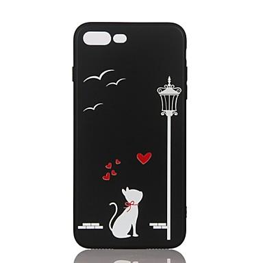 من أجل أغط / كفرات مطرز نموذج غطاء خلفي غطاء قطة ناعم TPU إلى Apple فون 7 زائد فون 7 iPhone 6s Plus iPhone 6 Plus iPhone 6s أيفون 6