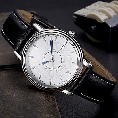YAZOLE Bărbați Ceas La Modă Ceas de Mână Ceas Casual Quartz Piele Bandă Cool Casual Elegant Negru Maro