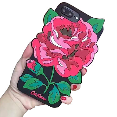 Voor apple iphone 7 7 plus 6s 6 plus case cover pioen siliciumdioxide gel drop telefoon hoesje
