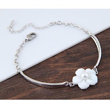 Dames Bedelarmbanden - Bloem Modieus Armbanden Wit Voor Verjaardag