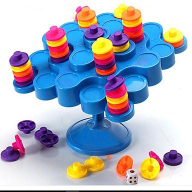 ألعاب ألعاب دائري برج بلاستيك قطع للجنسين هدية