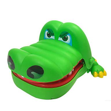 التمساح طبيب أسنان مخفف الضغط ألعاب تمساح Shark عض العض حجم كبير الموسيقى والضوء ABS للأطفال للجنسين للبالغين قطع