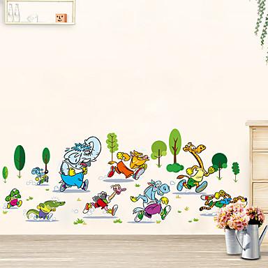 Animale Vacanță Timp Liber Perete Postituri Autocolante perete plane Autocolante de Perete Decorative 3D, Hârtie Pagina de decorare de