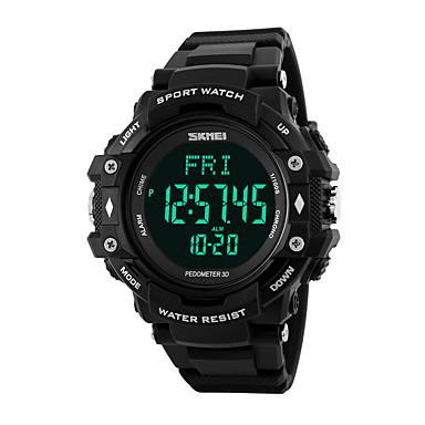 Χαμηλού Κόστους Ανδρικά ρολόγια-Ανδρικά Αθλητικό Ρολόι Έξυπνο ρολόι Ρολόι Καρπού Ψηφιακή Συνθετικό δέρμα με επένδυση Πολύχρωμο 50 m Ανθεκτικό στο Νερό Συσκευή Παρακολούθησης Καρδιακού Παλμού Ημερολόγιο Ψηφιακό / Δύο χρόνια / LCD