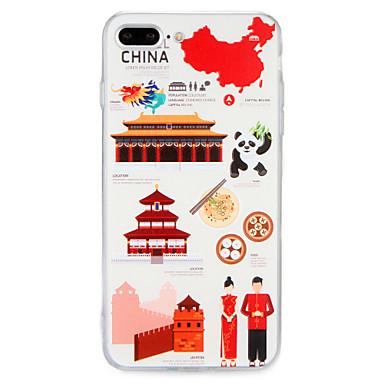 Voor apple iphone 7 7plus case cover patroon back cover case city view vlag dier harde pc 6s plus 6 plus 6s 6