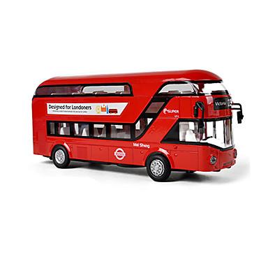 ألعاب حافلة ألعاب حافلة الحافلة ذات الطابقين سبيكة معدنية قطع للجنسين هدية