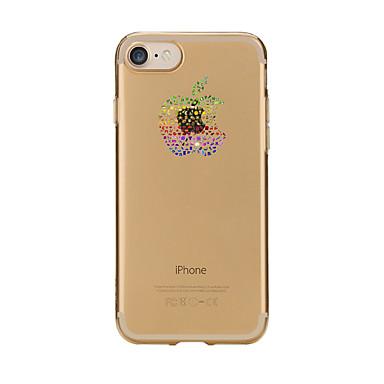 Voor Hoesje cover Transparant Patroon Achterkantje hoesje Cartoon Fruit Zacht TPU voor AppleiPhone 7 Plus iPhone 7 iPhone 6s Plus iPhone