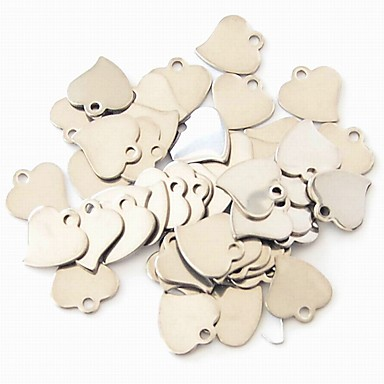 للمرأة تعليقات مجوهرات Heart Shape الفولاذ المقاوم للصدأ موديل الزينة المعلقة موضة مجوهرات من أجل حزب لباس يومي فضفاض