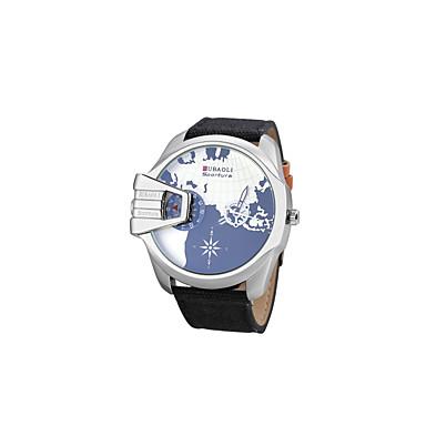 JUBAOLI Herrn Armbanduhr Modeuhr Sportuhr Armbanduhren für den Alltag Chinesisch Quartz Kalender Großes Ziffernblatt Duale Zeitzonen Stoff