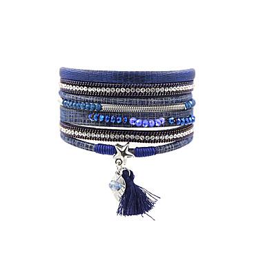 Dames Lederen armbanden Vintage Bohémien Turks Modieus Leder Rechthoekig Sieraden Kerstcadeaus Bruiloft Feest Speciale gelegenheden