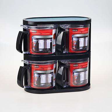 4 Keuken Roestvrijstaal Kunststof Shakers & Molens