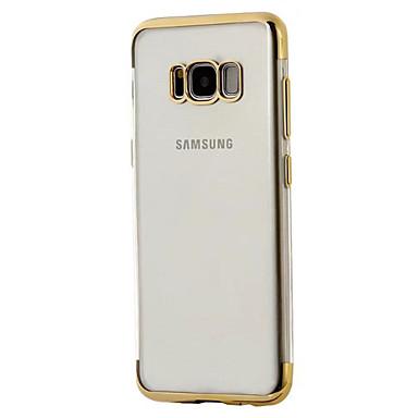 Maska Pentru Samsung Galaxy S8 Plus S8 Placare Transparent Carcasă Spate Culoare solidă Transparent Moale TPU pentru S8 S8 Plus