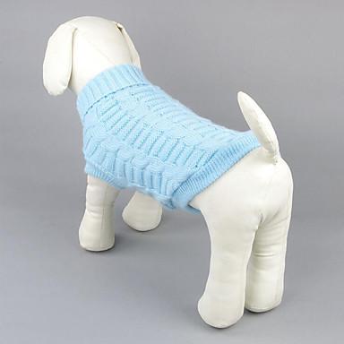 كلب البلوزات ملابس الكلاب سادة أصفر أحمر أخضر أزرق زهري قطن كوستيوم للحيوانات الأليفة للرجال للمرأة كاجوال/يومي