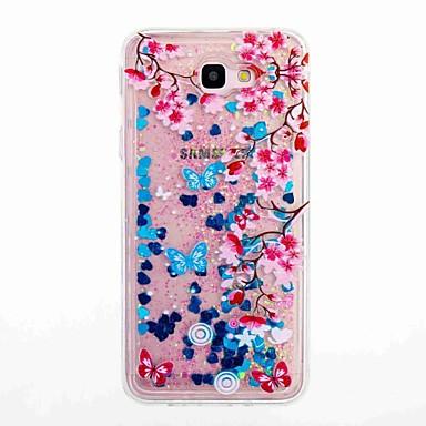 hoesje Voor Samsung Galaxy J7 Prime J5 Prime Stromende vloeistof Patroon Achterkantje Bloem Zacht TPU voor J7 (2016) J7 Prime J5 (2016)