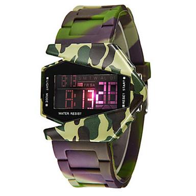 Heren Modieus horloge Digitaal horloge Digitaal Silicone Band Groen