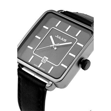 Heren Modieus horloge Kwarts Waterbestendig Leer Band Informeel Zwart Wit Bruin