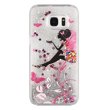 Hülle Für Samsung Galaxy S8 Plus S8 Mit Flüssigkeit befüllt Transparent Muster Rückseitenabdeckung Durchsichtig Glänzender Schein Cartoon