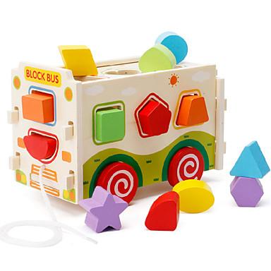 أحجار البناء ألعاب الألغاز ألعاب لهو خشبي للأطفال قطع