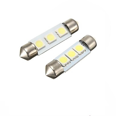 2w 39mm festoon 3led smd5050 dc12v placă de înmatriculare dome interior lumina led lampă auto led bec 2pcs