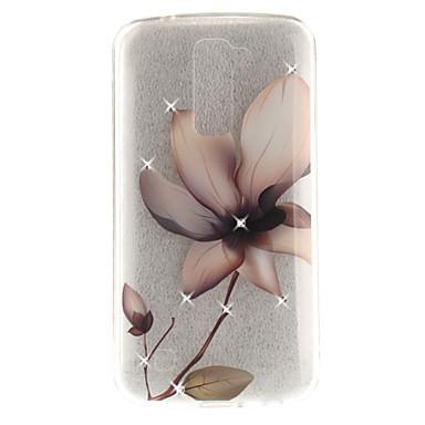 Hülle Für LG Strass IMD Transparent Rückseitenabdeckung Blume Weich TPU für LG K10 LG K8 LG K7