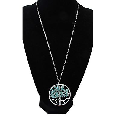 Dames Choker kettingen Turkoois Multi-steen Synthetische Sapphire Ronde vorm Sieraden Legering Basisontwerp Cirkelvormig ontwerp Uniek
