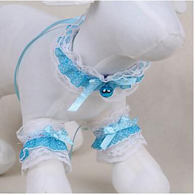 Hund Smoking Krawatte/Fliege Hundekleidung Niedlich Lässig/Alltäglich Modisch Spitze Hellblau Kostüm Für Haustiere