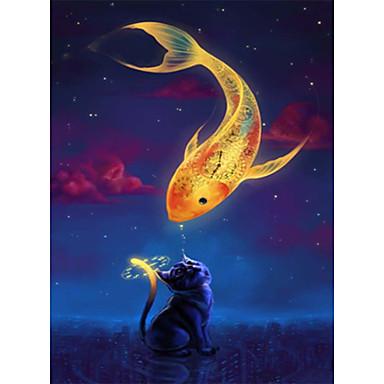 Puzzle Jucarii Pătrat Noutate Rață Pești Unisex Bucăți