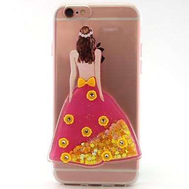 Voor apple iphone 7 7 plus 6s 6 plus se 5s 5 case cover sexy schoonheid flash poeder quicksand tpu materiaal diy telefoon hoesje