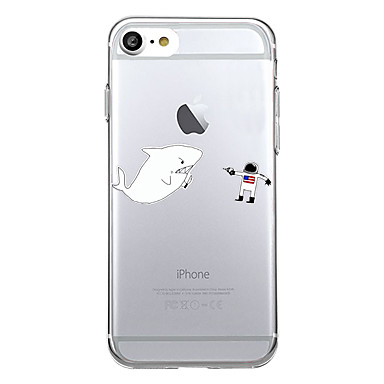 Hülle Für Apple iPhone 7 Plus iPhone 7 Muster Rückseite Cartoon Design Tier Weich TPU für iPhone 7 Plus iPhone 7 iPhone 6s Plus iPhone 6s