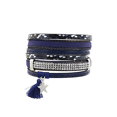 Dames Lederen armbanden Sieraden Vintage Bohémien Turks Modieus Leder Rechthoekig Sieraden Bruiloft Feest Vuosipäivä Verjaardag