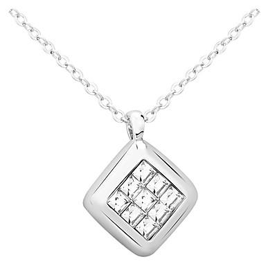 Dames Hangertjes ketting Sieraden Rechthoekige vorm Sieraden Strass Legering Uniek ontwerp Modieus Euramerican Kostuum juwelen Sieraden