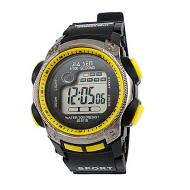 للرجال ساعة رياضية ساعة رقمية صيني رقمي رزنامه مقاوم للماء ساعة التوقف مطاط فرقة أسود