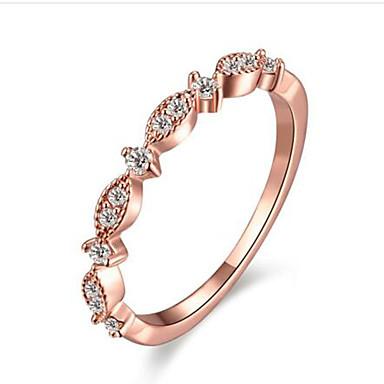 Dames Ring Bergkristal Synthetische Diamant Modieus Ruusukulta Verguld Rond Sieraden Verjaardag Onnea Lahja Dagelijks