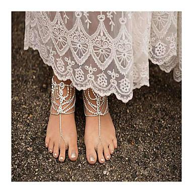 Damen Fusskettchen/Armbänder Künstliche Perle Strass Aleación Modisch Handgemacht Tropfen Schmuck Für Alltag Normal 1 Stücke