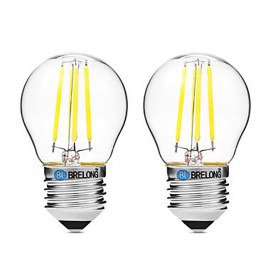 BRELONG® 2pcs 4W 300 lm E27 Bec Filet LED G45 4 led-uri COB Intensitate Luminoasă Reglabilă Alb Cald Alb UV (Fosforescentă) AC 200-240V