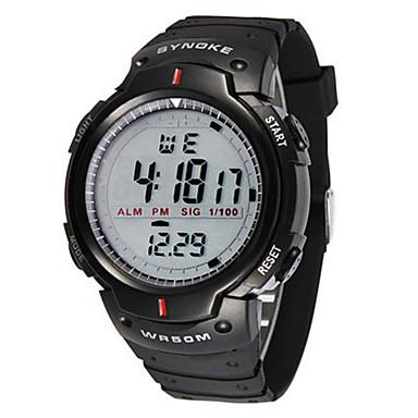 Heren Modieus horloge Digitaal horloge Digitaal Plastic Band Zwart