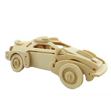 قطع تركيب3D ألعاب سيارة خشب للجنسين قطع