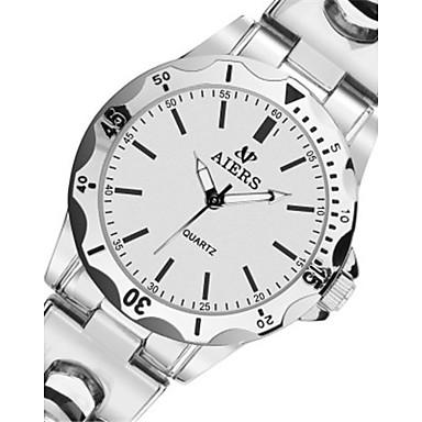 Heren Modieus horloge Kwarts Waterbestendig Legering Band Zilver