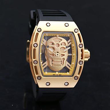 Herrn Sportuhr Militäruhr Kleideruhr Totenkopfuhr Modeuhr Armbanduhr Armband-Uhr Einzigartige kreative Uhr Armbanduhren für den Alltag