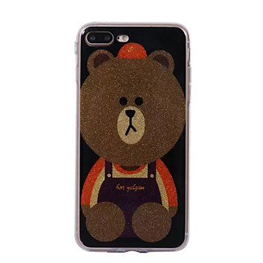 Voor apple iphone 7 7plus case cove bear patroon flash poeder imd proces tpu materiaal telefoon hoesje iphone 6 6s plus see 5s 5