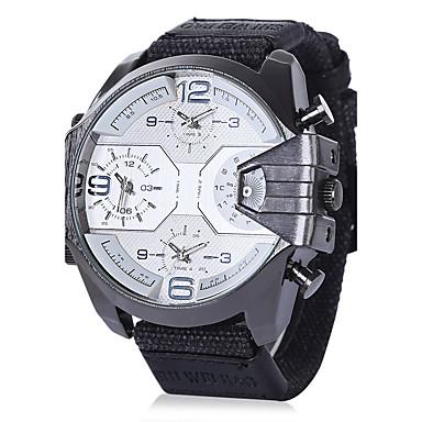 levne Pánské-Pánské Náramkové hodinky Letecké hodinky Velkoformátové Nylon Černá 30 m Voděodolné Kalendář kreativita Analogové Přívěšky Luxus Vintage Na běžné nošení Skládaný - Černá / Bílá Black / Gray Bíl
